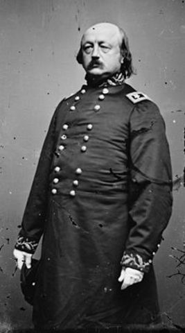 Benjamin Butler, notorious Union General in the Civil War and advocate of rights for African Americans, elected to Congress as a radical member of the Republican party.