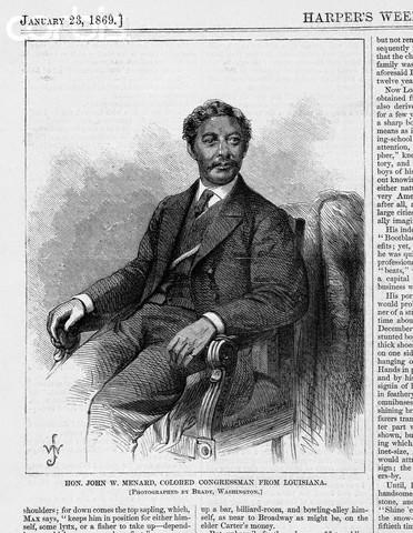 ohn W. Menard of Louisiana elected to the United States Congress.
