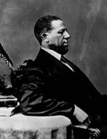 Hiram Revels elected to U. S. Senate as the first black senator.
