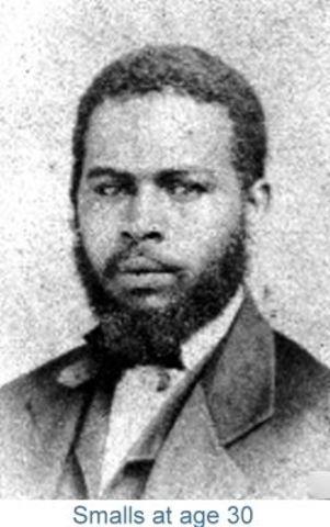 Robert Smalls, black hero of the Civil War, elected to Congress as representative of South Carolina.