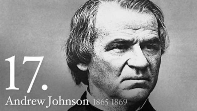 Andrew Johnson is President