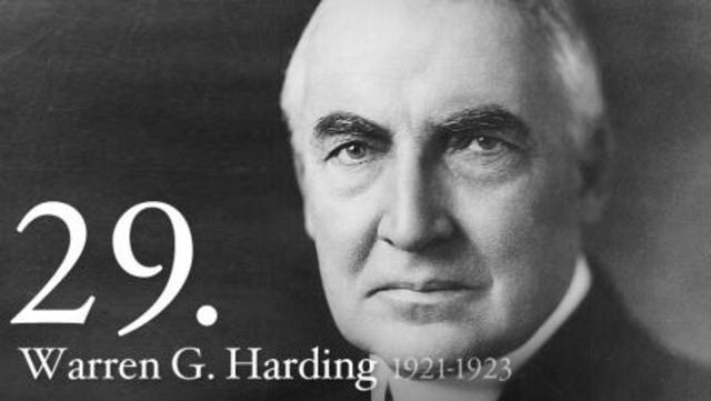 The new President, Warren G. Harding