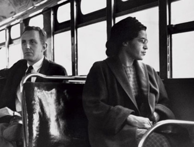 World Events: Rosa Parks Refuses to Give Up Bus Seat.