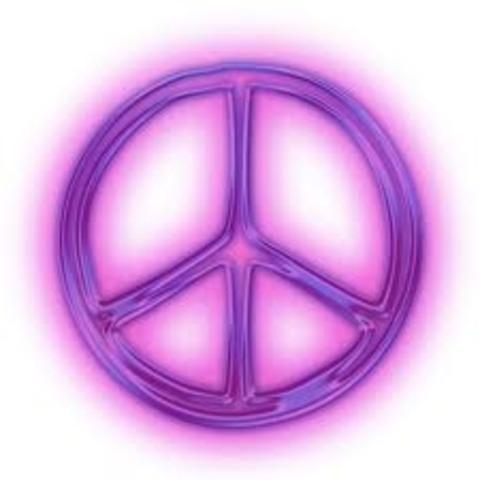 World Events: Peace Symbol Created.