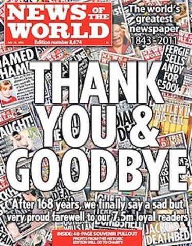 Murdoch closes NoW