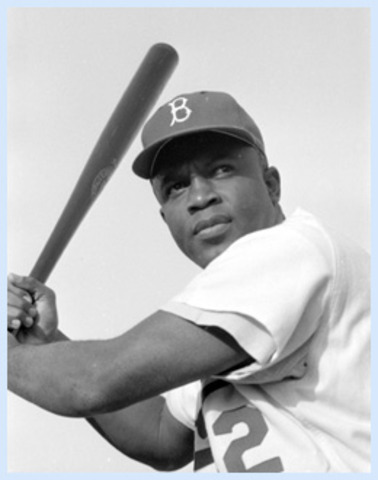 Jackie Robinson becomes first African American in the Major leagues