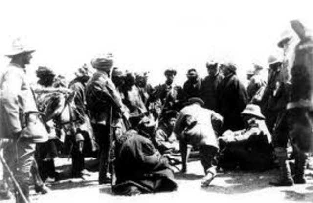 Japan's army pillages Nanjing, China; massacre a quarter of a million people