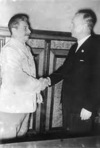 Nazi-Soviet Pact signed by Hitler and Stalin