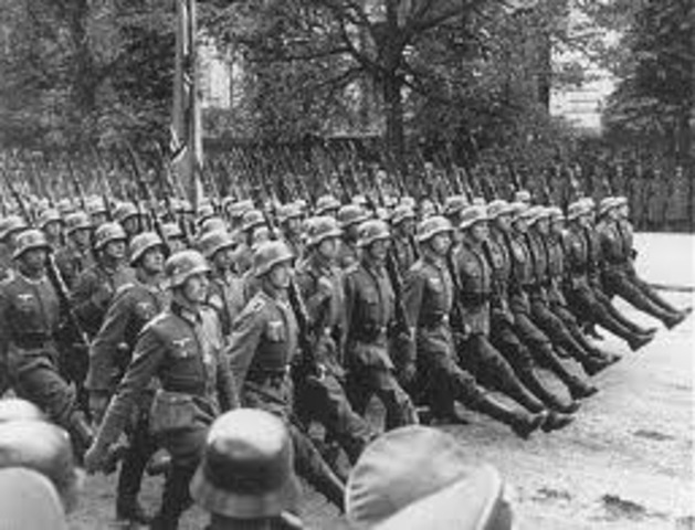 Sept 1st - Nazis invade Poland; Britain and France declare war on Germany