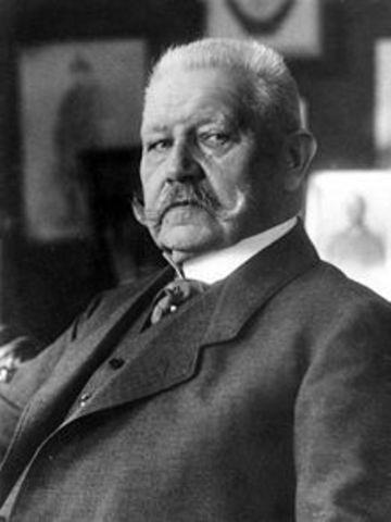 Paul Von Hindenburg Dies