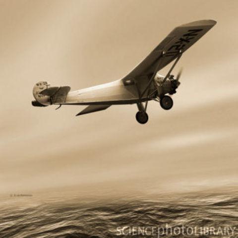 First solo transatlantic flight