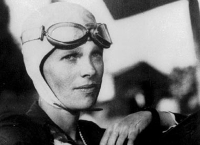 Amelia Earhart is the first women to fly Atlantic solo