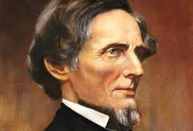 The Confederate State of America was formed with Jefferson Davis.