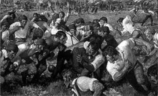 Intercollegiate football game