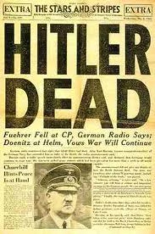 World event: Hitler Commits Suicide
