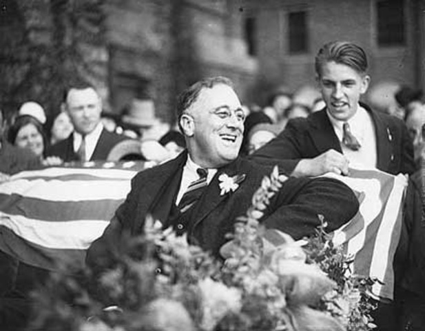 World Events: FDR elected for president