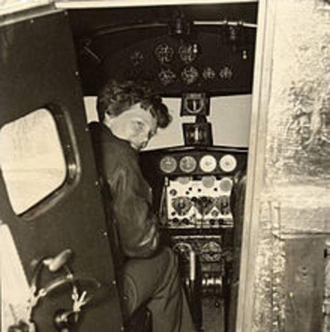 World Events: Amelia Earhart Crosses the Atlantic