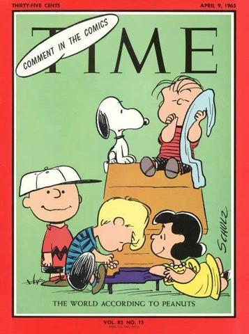 First Peanuts comic strip