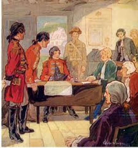 Proclamation of 1763 is Passed