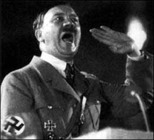 Hitler declares himself fuhrer