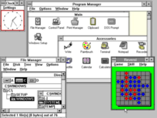 Windows 3.0 and 3.1