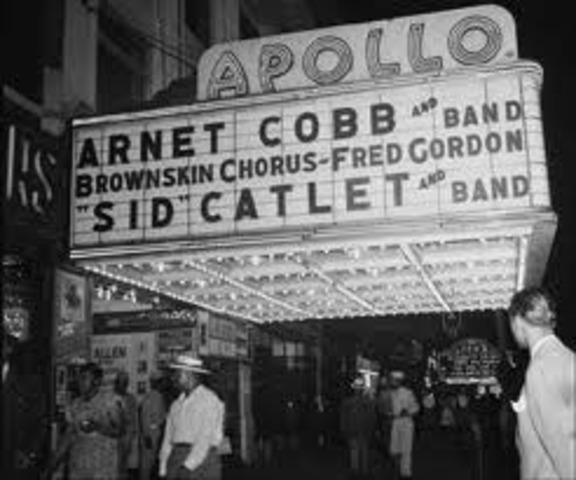 The Apollo Theatre opens in New York City