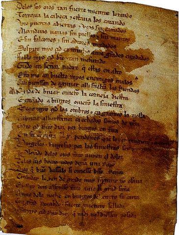 Publicación del Cantar del Mio Cid
