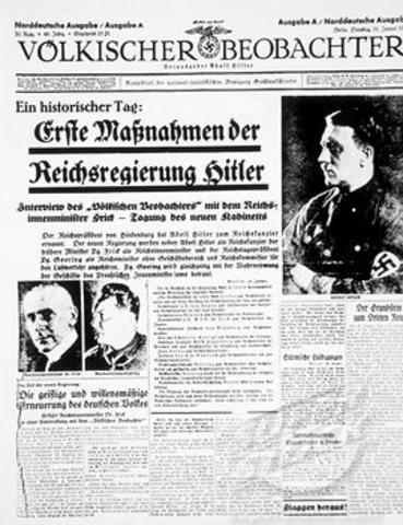 Hitler is Sworn in as Chancellor