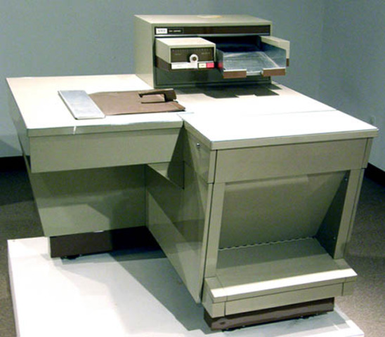 science and tech; the first xerox machine