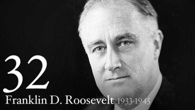 Franklin D. Roosevelt is sworn into Presidency