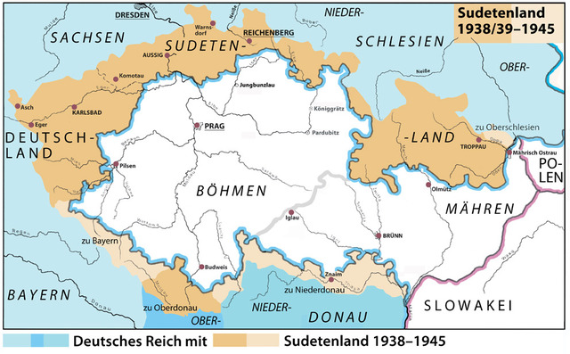 Germany takes Sudetenland