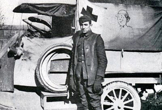 After his rejection by the army, Walt and a friend decided to join the Red Cross. Soon after joining he was sent to France for a year, where he drove an ambulance, but only after the armistice was signed.