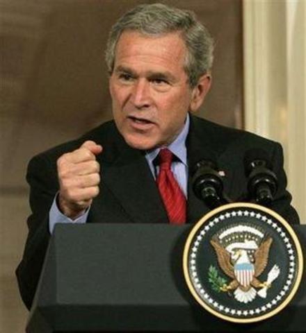 President Bush Declares War