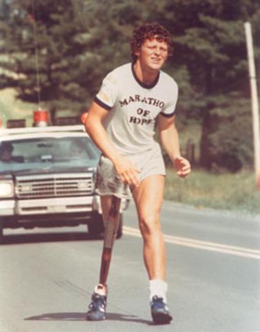 Terry Fox begins his Marathon of Hope