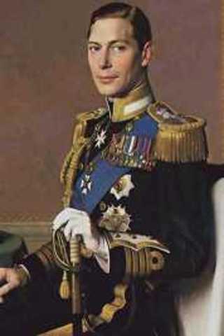 King George VI died
