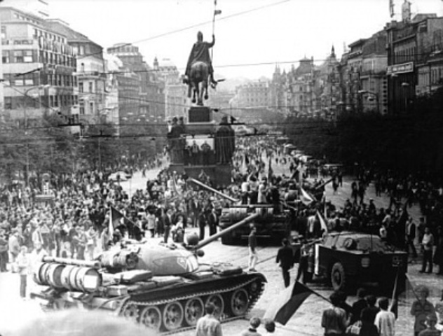 Soviet Union takes over Czechoslovakia