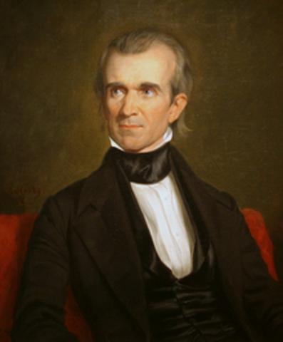 Eleventh President : James Knox Polk 1845-1849