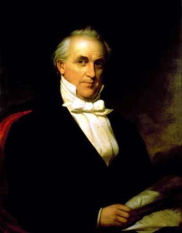Fifteenth President : James Buchanan 1857-1861