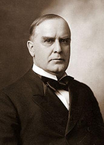 Twenty - Fifth President : William McKinley 1897-1901