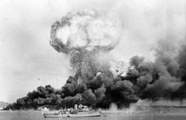 Darwin is bombed for the first time during world war ll