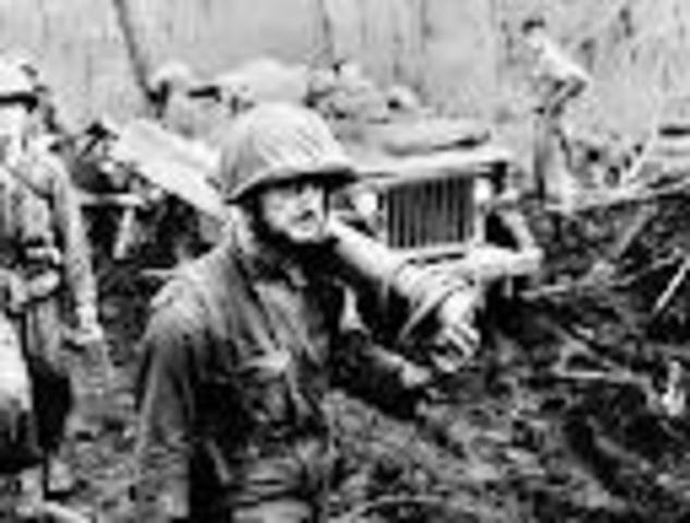 End of World War II- an estimated 55 million dead