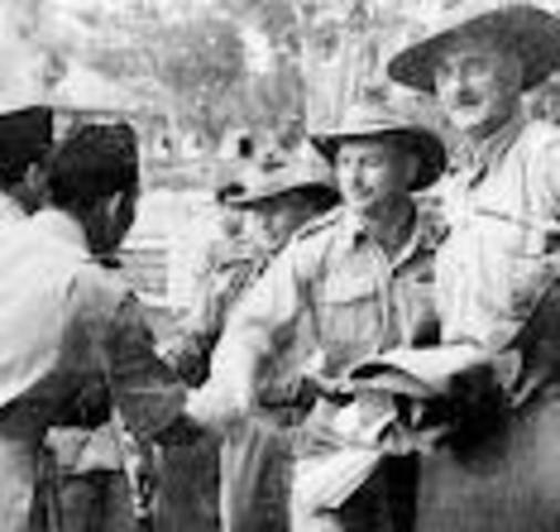 First Australian involvement in United Nations peacekeeping, in Indonesia