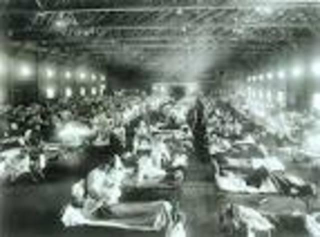 Influenza epidemic after World War I kills more people than war
