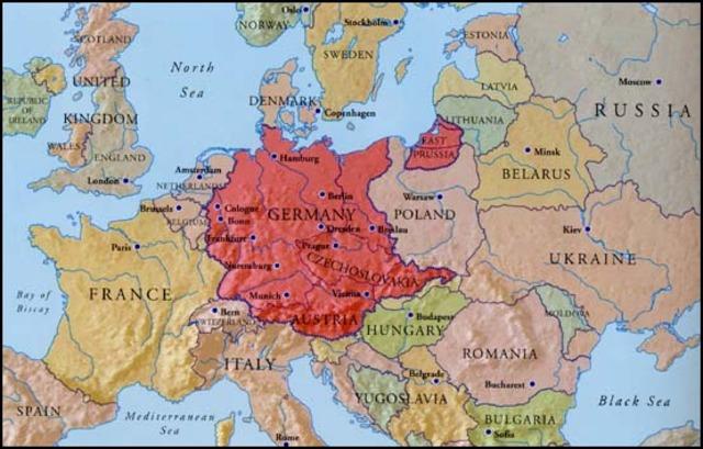 Germany announces Anschluss (union) with Austria