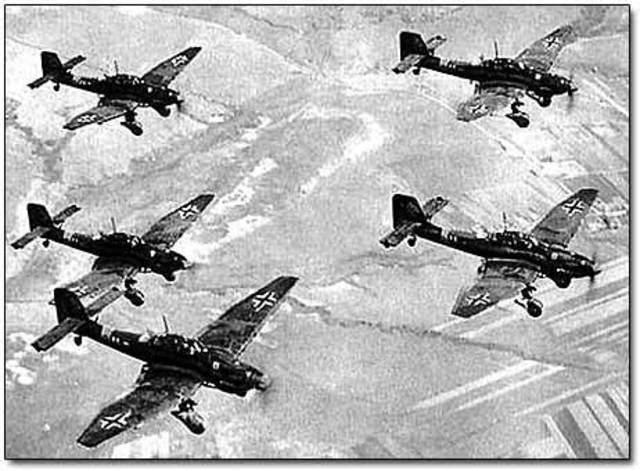 British Royal Air Force attacks the German Navy