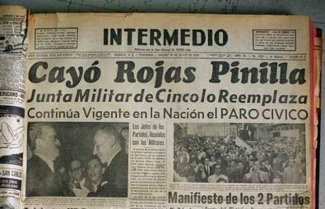 Caida de Gustavo Rojas  Pinilla