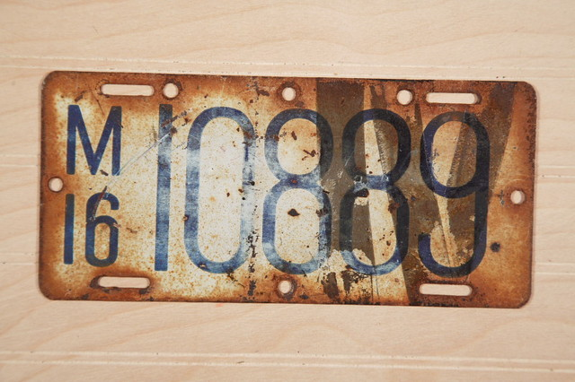 The First License Plates Issued in U.S.