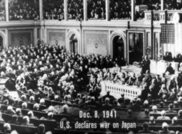 US Congress Declared War on Japan