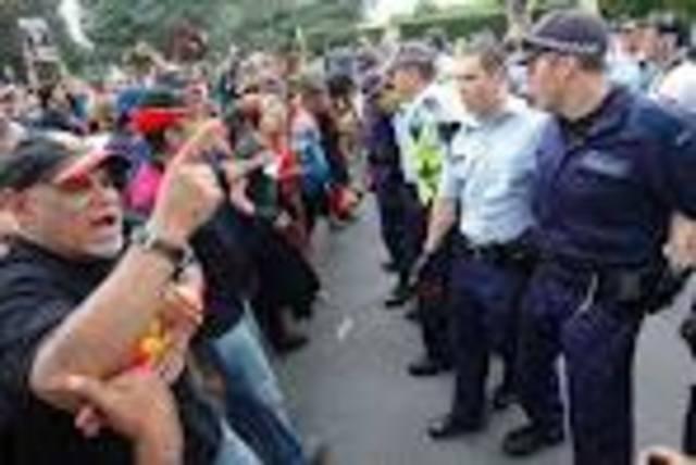2. Australia day protest begins