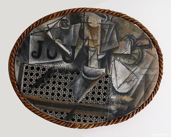Pablo Picasso - Nature morte à la chaise cannée